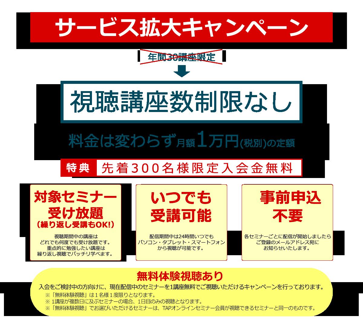 サービス拡大キャンペーン