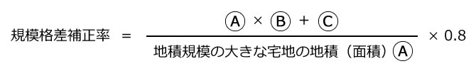 規模格差補正率の計算方法